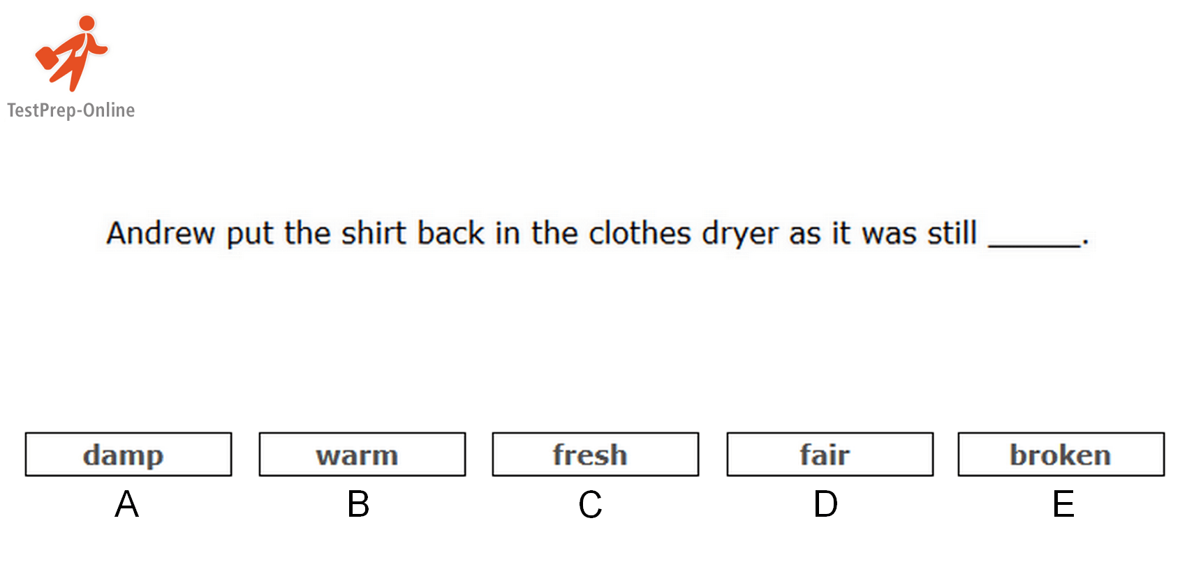 Sample Sentence Completion Question