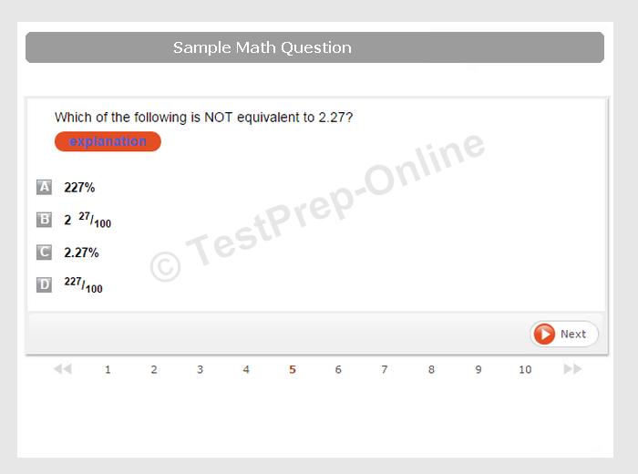 online math test