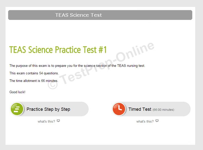 TEAS V Science Test Online Practice - TestPrep-Online