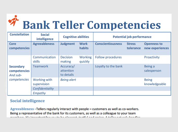 Bank Teller Assessment Test Online Preparation Amp Advice
