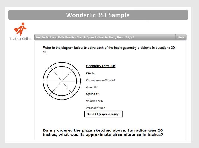 Wonderlic test and writing skills tests
