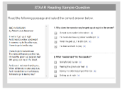 STAAR Reading Sample Question