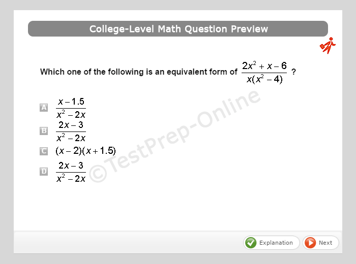 Accuplacer Placement Test Math Review Sheets Sample