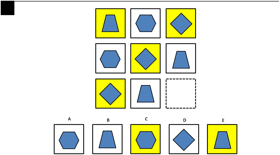 Printables Gifted And Talented Worksheets free nyc gt 2nd grade sample test level c testprep online 3 identify the image which completes pattern by examining how series of shapes change across rows and down columns