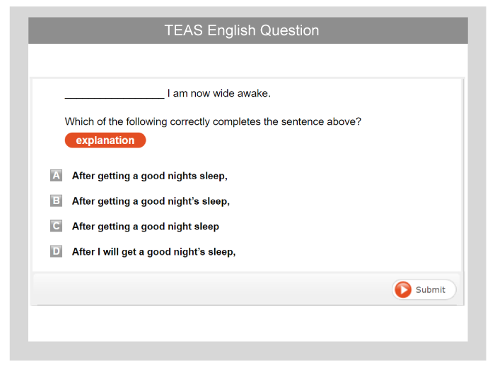 Ati Teas English Test Preparation Pack 2018 Testprep Online