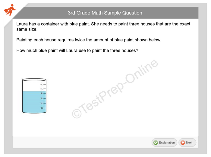 3rd Grade Math Basic Pack - Online Preparation - TestPrep-Online