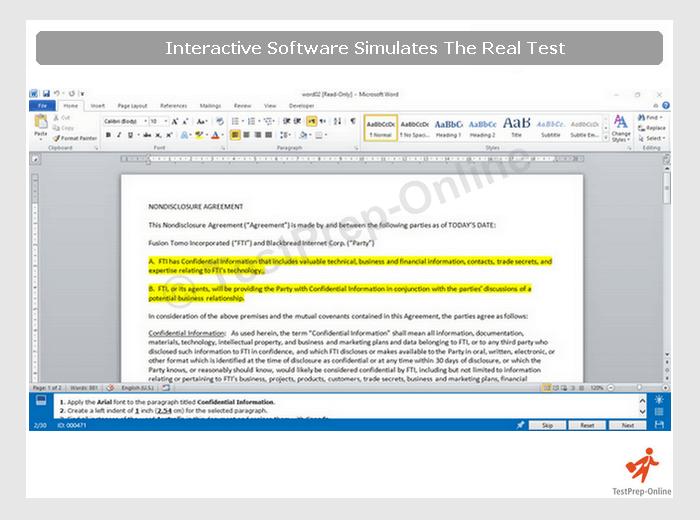 MS Word Online Practice Tests  wwwTestsTestsTestscom