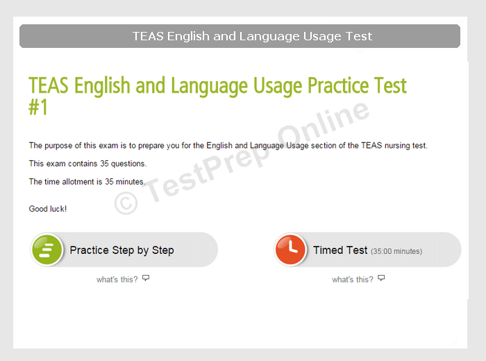 ATI TEAS English Test Preparation Pack 2019 - TestPrep-Online