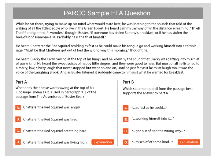 A review of sample questions released by parcc: implications for.
