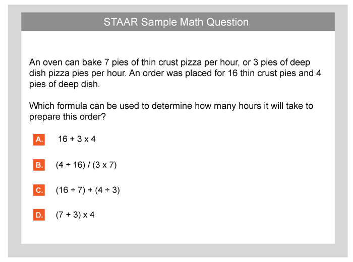 photo relating to Printable Sbac Practice Test named 4th quality staar try Teach - TestPrep-On line