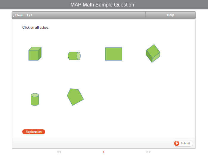 Free Map Test Practice For 3rd Grade Testprep Online