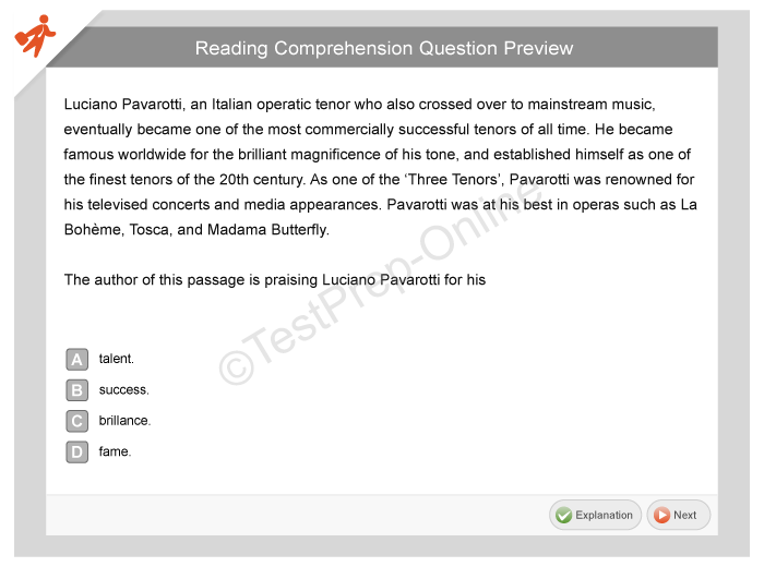 Accuplacer Reading Comprehension Practice Questions
