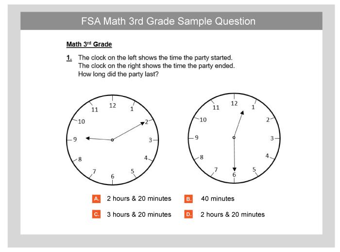 FSA & NGSSS EOC Practice Sample Tests - TestPrep-Online