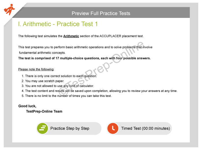 ACCUPLACER English Placement Test Practice - TestPrep-Online