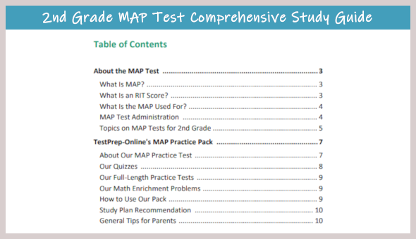 Free MAP Test Practice for 2nd Grade - TestPrep-Online